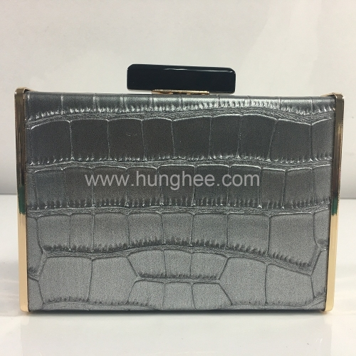 Handmade Faux Leather Python Pattern Fashion PU leather evening bags HH-PU83270