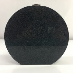 Round Shape Black Sparking Glitter