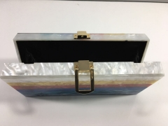 RainBow Strips Acrylic Clutch Evening Bags Box Clutches of AC5656