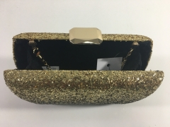 Gold Glitter Hard Case Evening Bags Box Clutches HH-GLT83283