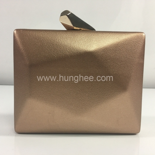Gold Faux Leather PU Evening Handbag with Metal Clasp HH-PU83289