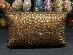 Wholesale Gold Classic Exquisite Handmade Ladies Vintage Luxury Crystal Evening Bags IF-CE52174