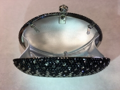 Egg Shaped Perfect Luxury Gradient Crystal Evening Clutch Bags IF-CE63952