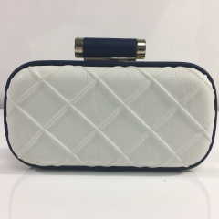 Beautiful Clutch Handbag White PU Leather Evening Bags for Ladies HH-PU83313