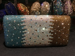 Women Elegant Luxury Fully Gradient Crystal Clutch Evening Bags IF-CE21715