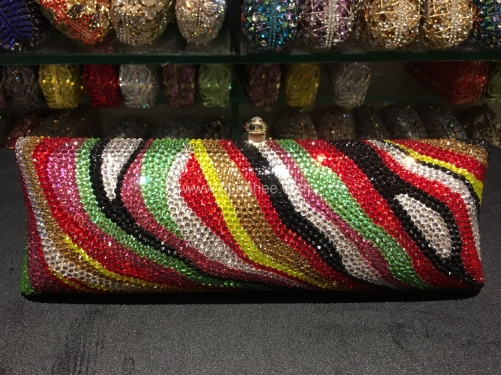 Wholesale Multi-Color High Quality Bling Cocktail Bag Fully Crystal Clutch Bag IF-CE52171