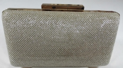 Gold Smooth Glitter Fabric Hard Case Evening Clutches HH-GLT11824