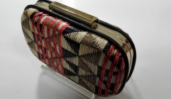 Geometric Patterns Woven Fabric Metal Case Box Clutch Evening Bags HH-HD62254