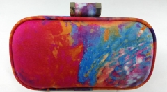 Glamorous Elegant Watercolor Abstract Painting Hard Case Clutch Evening Bag HH-HD61017