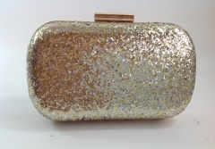 Wholesale Gold and Silver Bi-colors Glitter Fabric with Metal Frame Evening Purse HH-GLT1223