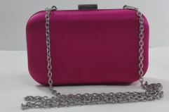 Satin Hard Case Evening Clutch Bags with Metal Frame HH-SAT12452