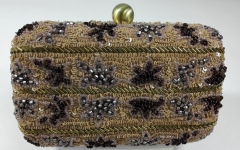 100% Handmade Beads and Sequins Heavy Embellished Box Clutch Bag HH-BE10214