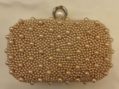 Champagne Wedding Party Bag Bead Embellished Clutch Bag HH-BE13413