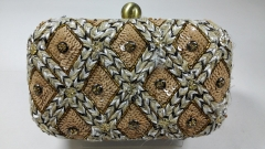 Straw and Sequins Heavy Embellished Evening Clutches HH-BE11756