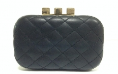 Trendy Clutches and Purses Black PU Leather Evening Handbag HH-PU1596