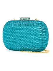 Full Diamond Blue Zircon Hot-fixed Crystal Clutch Bag HH-CR40149