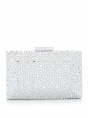 Luxury Clutch Purse Clear Hot-fixed Crystal Clutch Evening Bag HH-CR35556