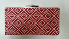 Ladies Party Clutch Purse Classic Woven Fabric Box Clutch Evening Bag HH-HD5031