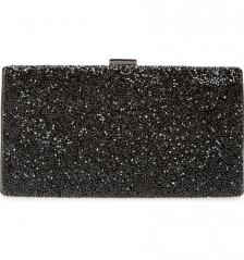 Full Crystal Diamond Black Color Bridal Evening Clutch Bag HH-CR27998