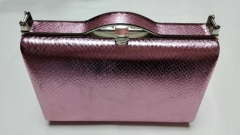 Pink Snake Skin Pattern PU Leather Evening Handbags HH-PU5008
