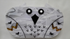 Customized Acrylic Evening Bags Purses Clutch Owl Shape Perspex Clutch Bag Wholesale HH-AC1662