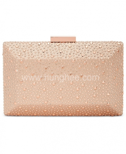 Hot-fixed Crystal Clutch Purse Champagne Crystal Clutch Evening Bag HH-CR35558