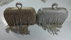 Rhinestone Fringed Clutches Evening Bags Diamond Chain Crystal Evening Bags HH-RH7122