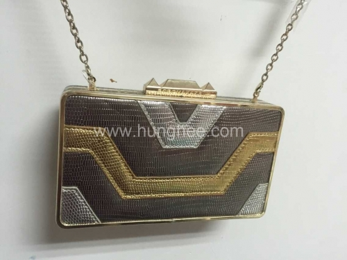 Vintage Metallic Faux Leather Crossbody Sewing Clutch Evening Purses HH-PU32152