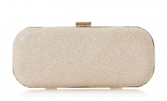 Gold Glitter Hard Case Clutch Evening Bags Box Clutch Minaudiere HH-GLT91430