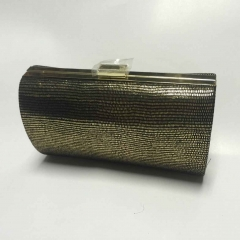Cylinder Faux Leataher Evening Clutch Bags and Purses with Metal Frame HH-PU31124