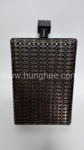 Gun-Metal Color Plating Metal Net Box Evening Bags HH-M5555