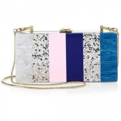 Strips Acrylic Clutch Evening Bag for Party Prom Bride Lucite evening bags HH-AC86688