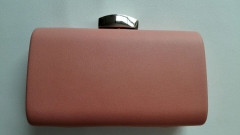 Pink Color Faux Leather Handbag Designer Wedding Party PU Clutch Evening Bags HH-P5526