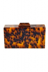 Leopard Pattern Acrylic Box Clutches Tortoise Shell Acrylic Bag HH-AC88000