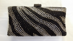 Hot Fix Black Crystal Evening Bags China Crystal Evening Bags Clutches HH-HF17724