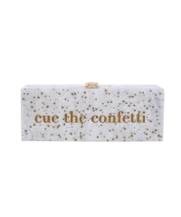Sparking Glitter Confetti Luxury Pearl Acrylic Wedding Purses Lucite Clutch Bags HH-AC89580