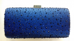 Hot Fixed Navy Blue Crystals on Evening purse Crystal Evening Bags Clutches HH-HF17722