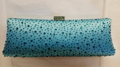 Light Blue Hot Fixed Diamond Crystal Evening Bags HH-HF17729