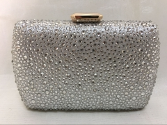 Metal Box Clear Crystal Evening Clutch Purses HH-HF70521