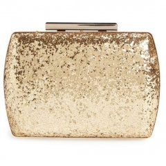 Gold Giltter Metal Case Wedding Party Handbag Clutch Evening Purses HH-GLT87469