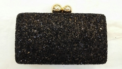 Black Glitter Box Hard Clutches Evening Clutch Purse HH-GLT50534