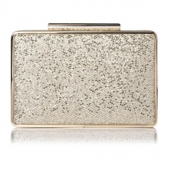 Sparkly Gold Glitter Evening Clutch Bag Box Clutch Evening Bags HH-GLT95126