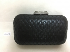 Black Faux Hard Box Evening Clutch Bags Wholesale HH-PU90687