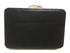 Rectangle Black Evening Clutch Bag Faux Leather Evening Bags HH-PU90692