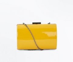 Yellow Patent Leather Evening Handbag Faux Leather Clutch Bags HH-PU96466