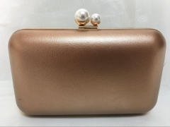 Metallic Faux Leather Hard Frame Evening Clutch Purse for Wedding Party HH-PU65737