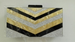Acrylic Evening Purses Clutch Vintage Geometric Pattern Lucite Evening Bags HH-AC45937