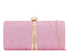 Pink Glitter Hard Case Bridesmaid Wedding Party Evening Clutch Purse HH-GLT32219