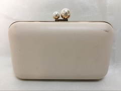 Beige Faux Leather Hard Frame Clutch Purse for Wedding Party Evening Handbags HH-PU65731