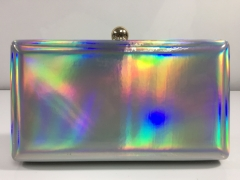Silver Patent Faux Leather Clutch Bags PU Leather Evening Clutches HH-PU65859